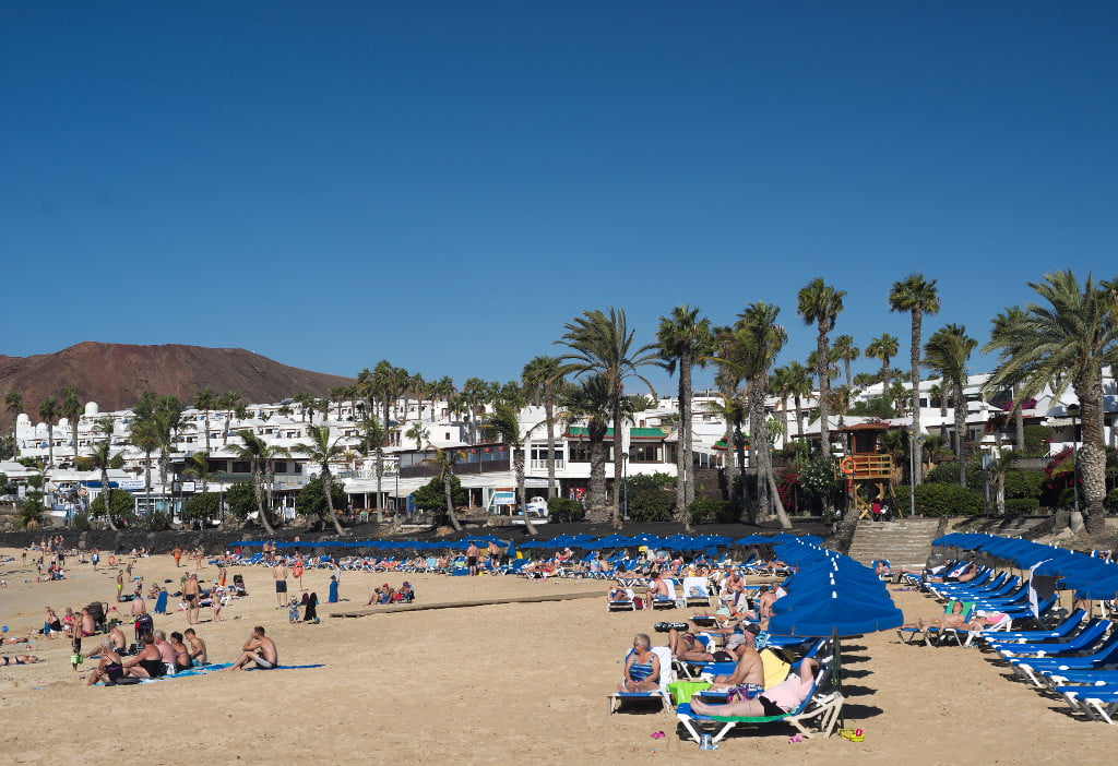 Sun Bathers at Playa Flamingo in December 2015