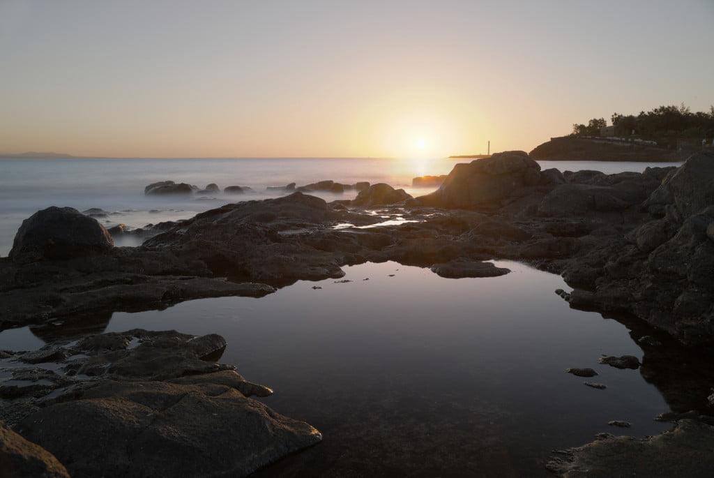 Rockpools at Sunset in Playa Blanca, Lanzarote