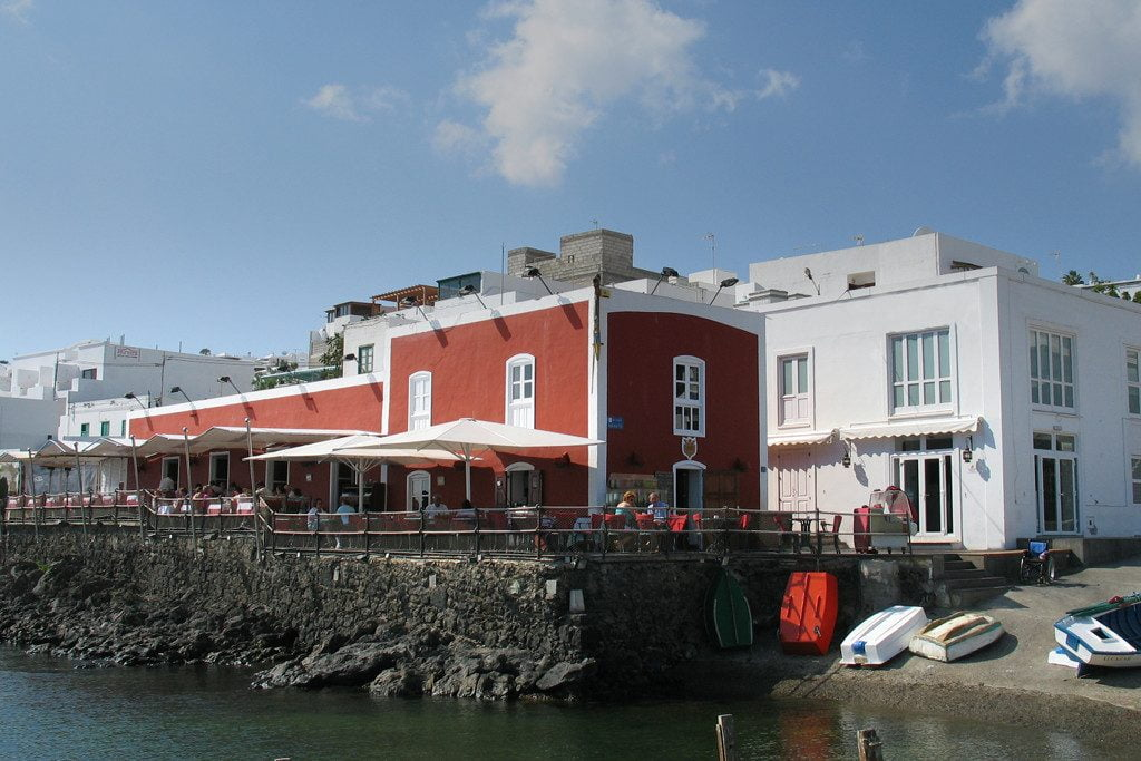 The Casa Roja Restaurant in Puerto del Carmen's Harbour