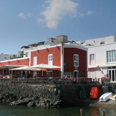 The Casa Roja Restaurant in Puerto del Carmen's Harbour