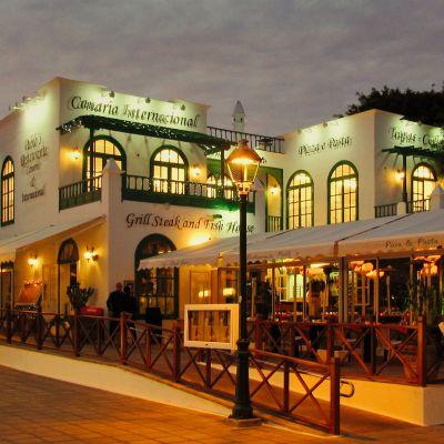 A Restaurant in Costa Teguise's Pueblo Marinero.