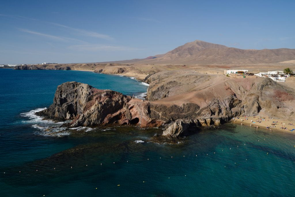 View of Papagayo Beach and Headland, Lanzarote