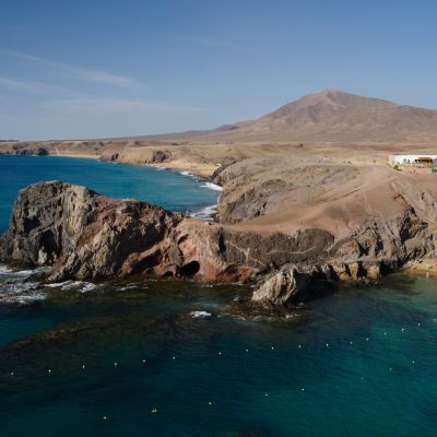 View of Papagayo Beach and Headland, Lanzarote