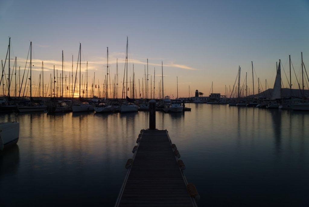 A pontoon at the Marina Rubicon, Playa Blanca, Lanzarote