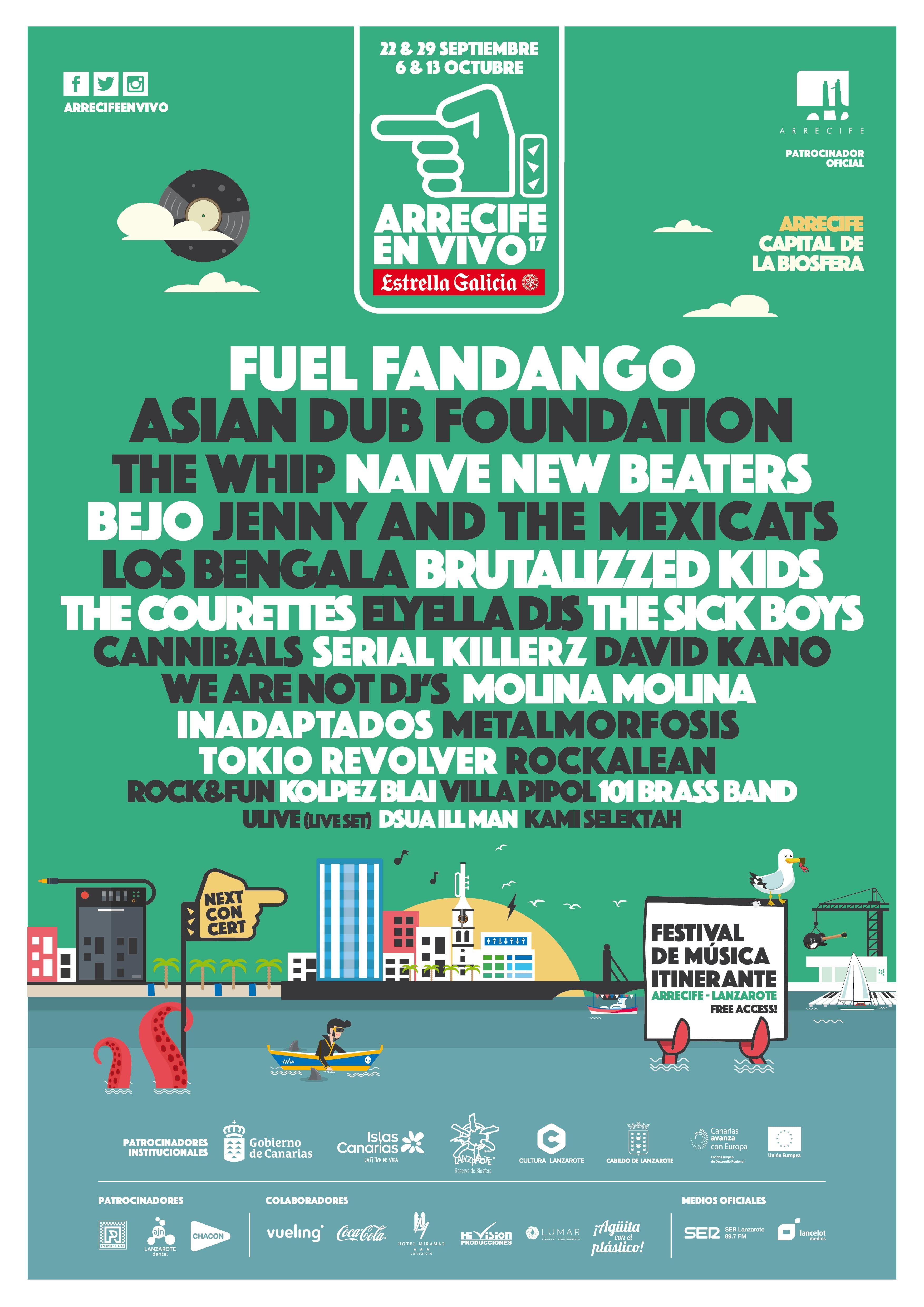 Arrecife en Vivo 2017, Free Festival in Arrecife, Lanzarote