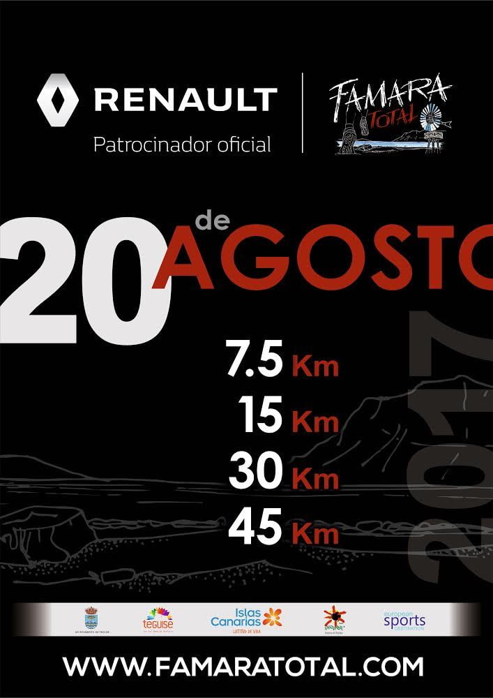 The Famara Total Race Poster for 2017 in Lanzarote