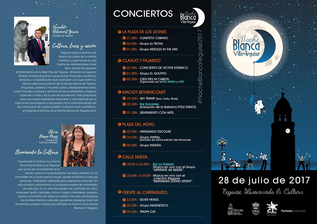 Noche Blanca (visual and performing arts festival) in the old town of Teguise, 2017
