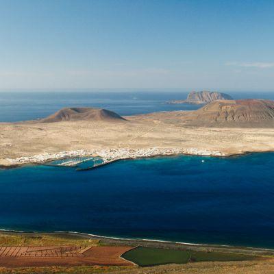 View of La Graciosa from Mirador del Rio, Lanzarote