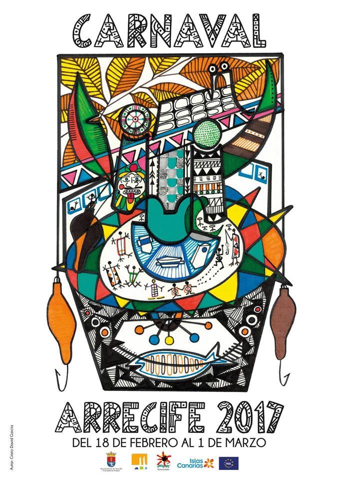 Arrecife Carnival Poster 2018, Lanzarote