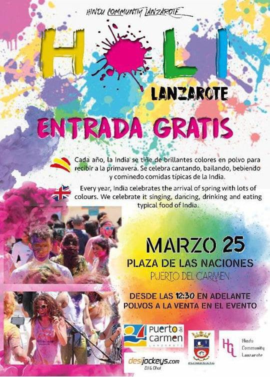 Holi Lanzarote 2018, Festival of Colours, Puerto del Carmen, Lanzarote