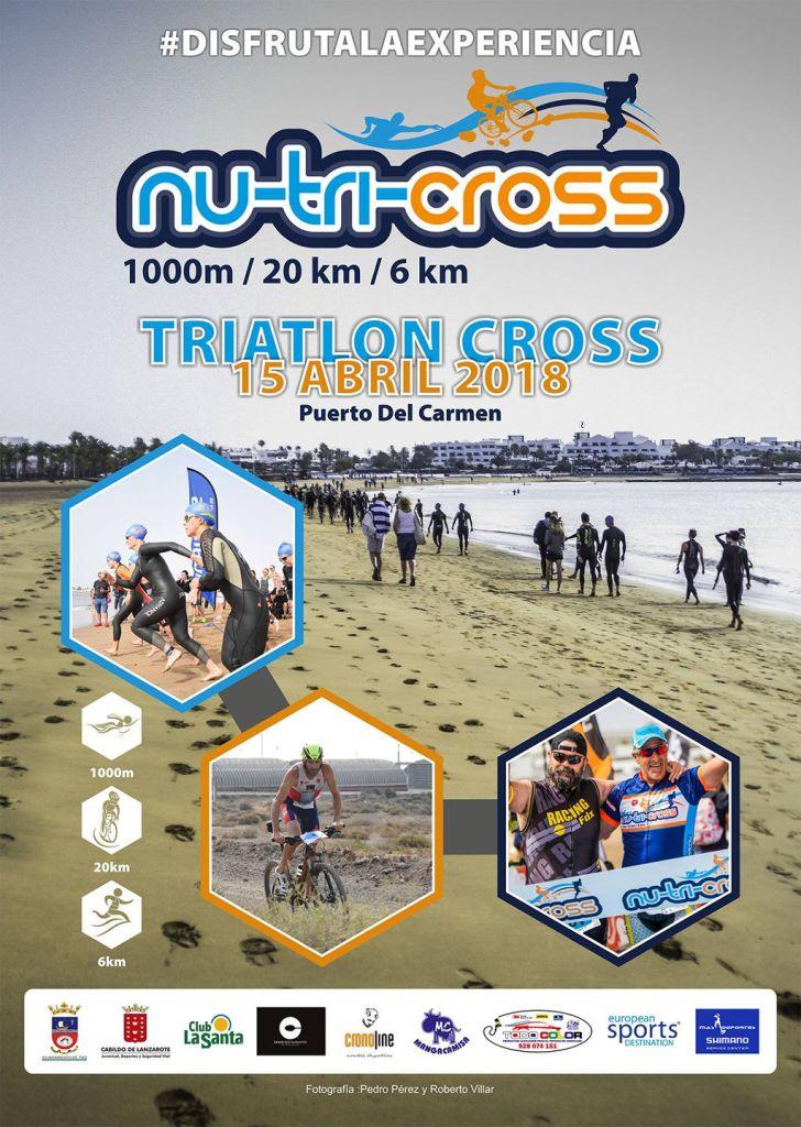 The Nutricross Cross Triathlon takes place in Puerto del Carmen, Lanzarote on the 15th of April 2018.