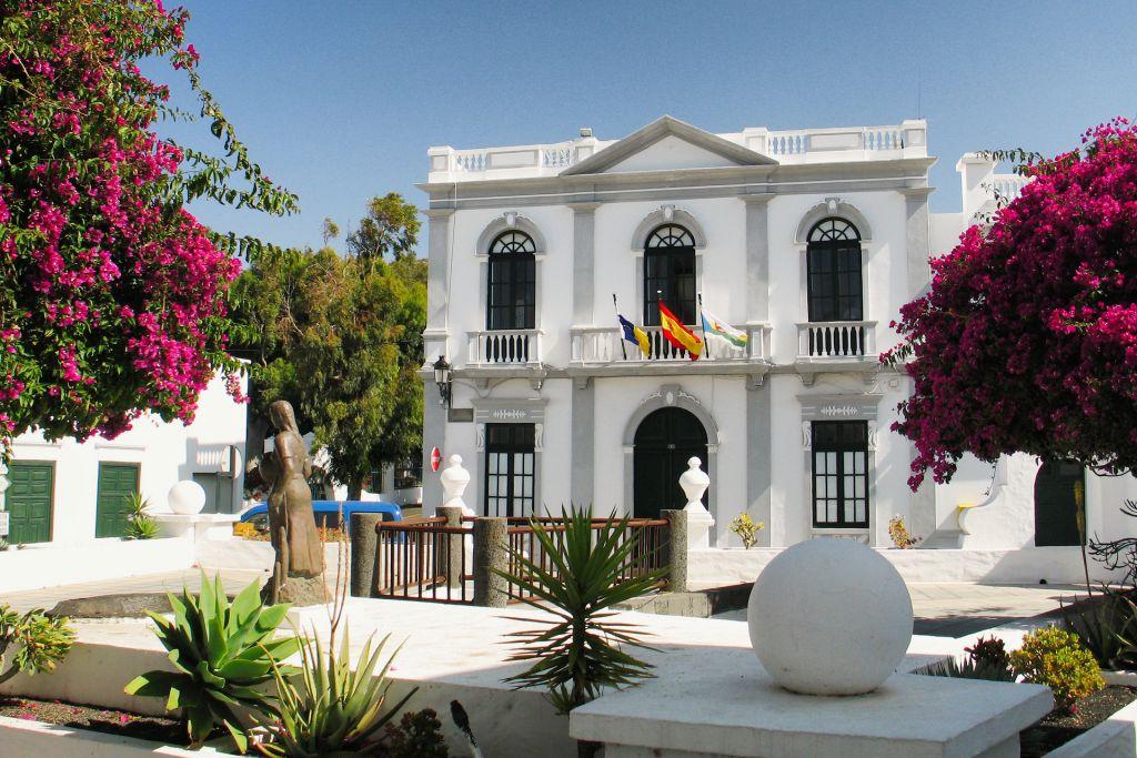 The Ayuntamiento building in Haria, Lanzarote