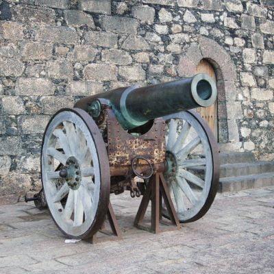 The Canons outside the Castillo de San Gabriel in Arrecife, were once used at the Mirador del Rio Battery in the north of Lanzarote.