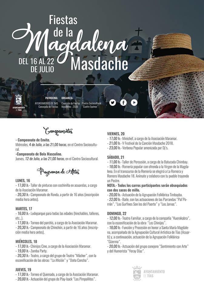 Fiestas de la Magdalena Masdache, Lanzarote 2018