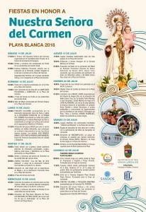 Fiesta de Nuestra Señora del Carmen, Playa Blanca 2018